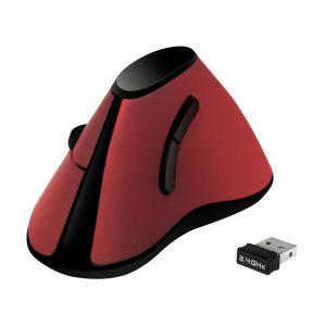 Logilink Ergonomisch Vertikaal Optical USB Rood Wireless