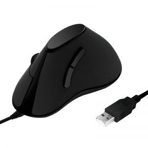Logilink Ergonomisch Vertikaal Optical USB Zwart Retail
